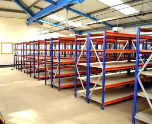 lightweight, heavy-duty, demountable shelving system