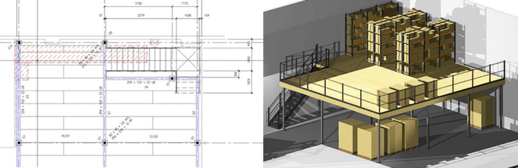 3D mezzanine illustrations