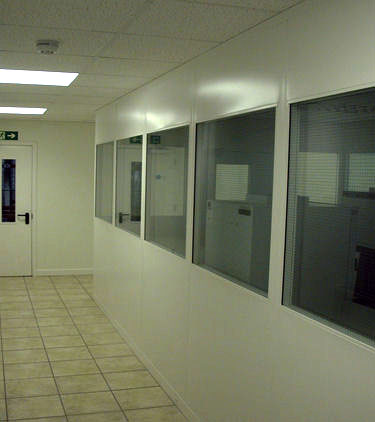 double skinned steel partitioning