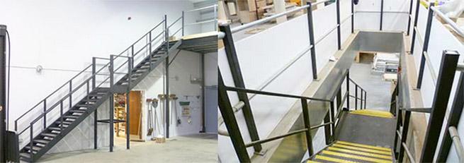 mezzanine floor handrailing
