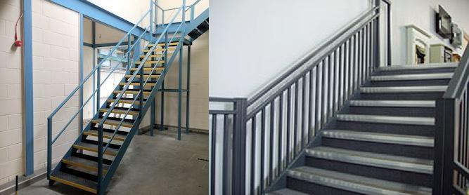 mezzanine steel staircases
