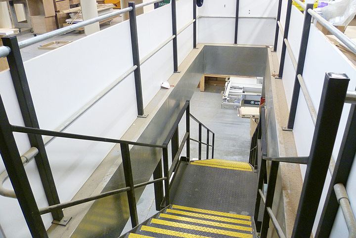mezzanine general access staircase